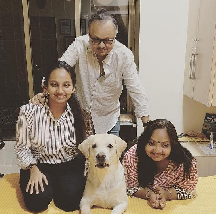 Former BARC chief, Partho Dasgupta, with his family.