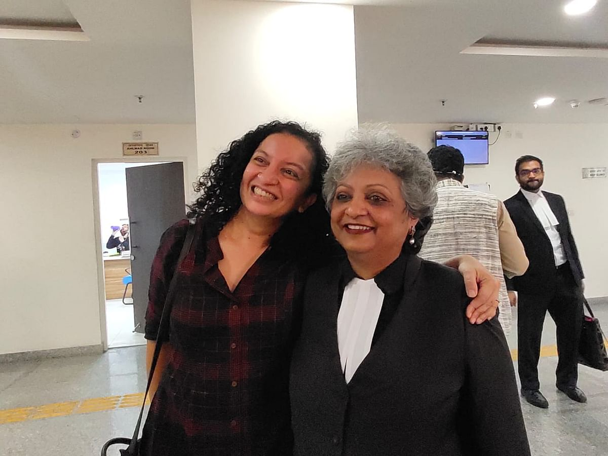 Ramani and her counsel Rebecca John after the verdict was delivered.