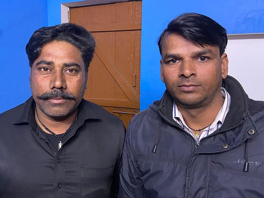 Vegetable farmers Jagdish Saini, 39, and Ravi Kumar, 40, in Bijnor.