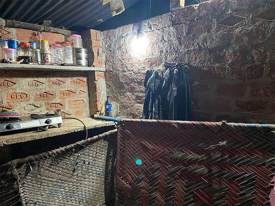 The room Razia built for Ashfaq and Neha.