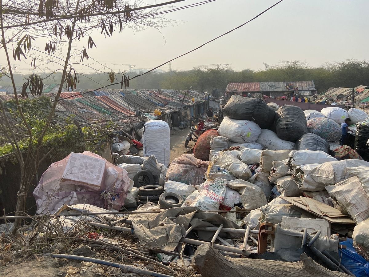 A slum 200 metres from the protest site.