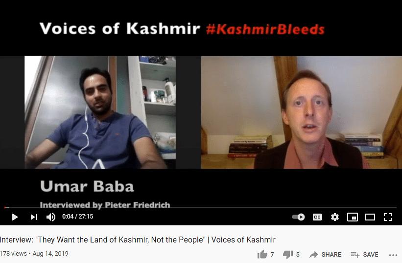 Friedrich's interview with Umar Baba.