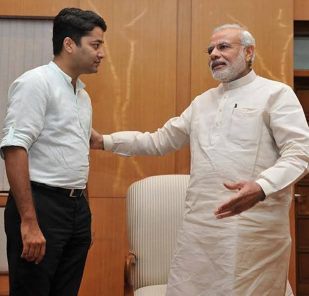 Vikas Pandey with Narendra Modi. Picture via Facebook