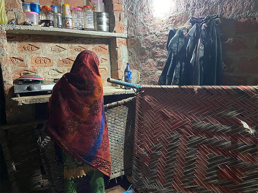 Razia in her house.