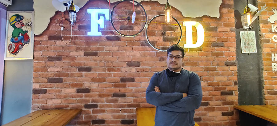 Himanshu Goyal, the owner of Bunny's Kitchen in Sonipat.