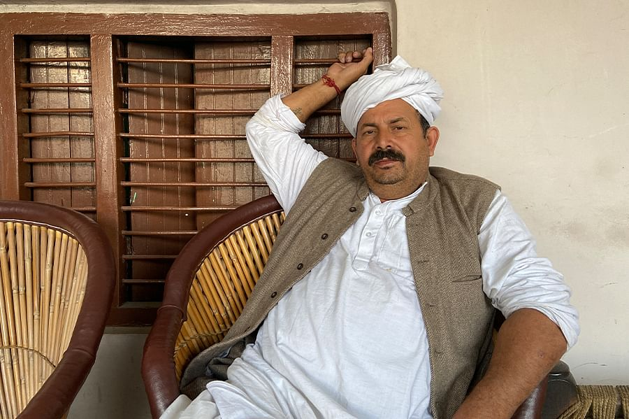 BKU president and Baliyan chief Naresh Tikait at his home in Sisauli.