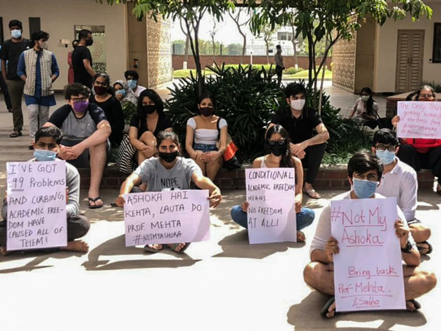 Protesting students.