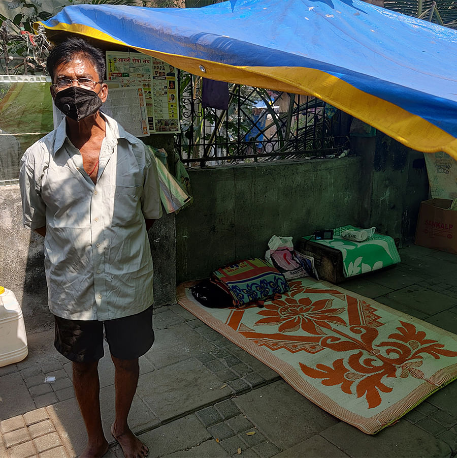 Harish Chandra Paati, 63, has made the pavement his home.