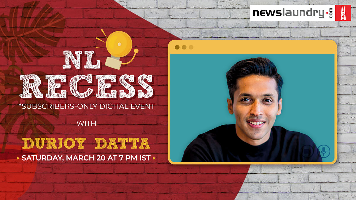 NL Recess: Come hang out with Durjoy Datta