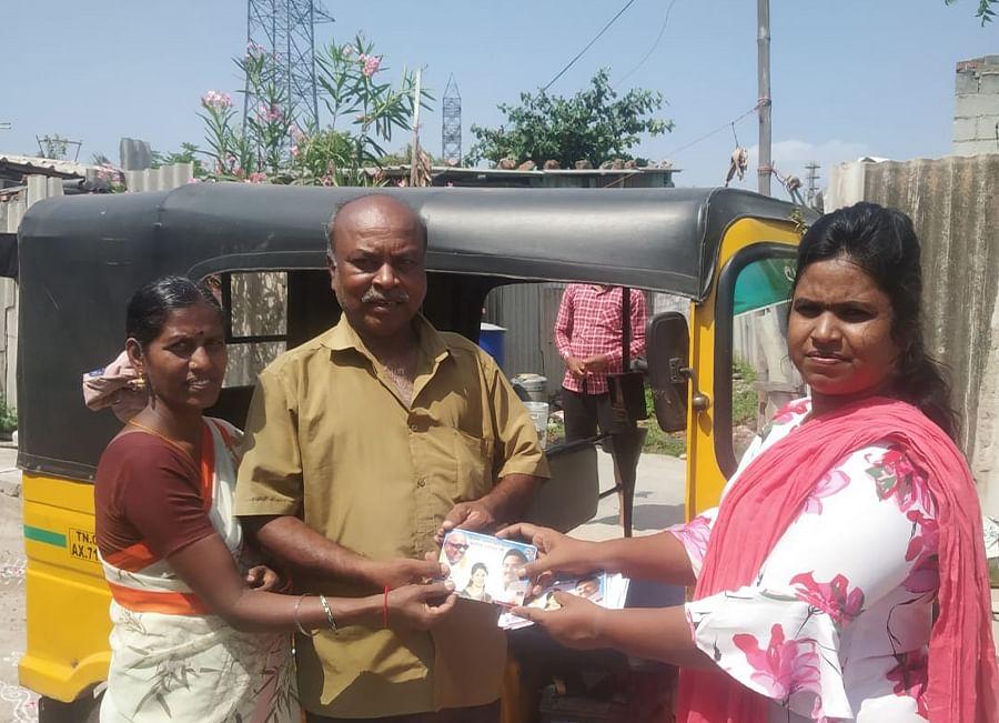 Komalavalli is the organiser of the DMK's women's wing in northeast Chennai.