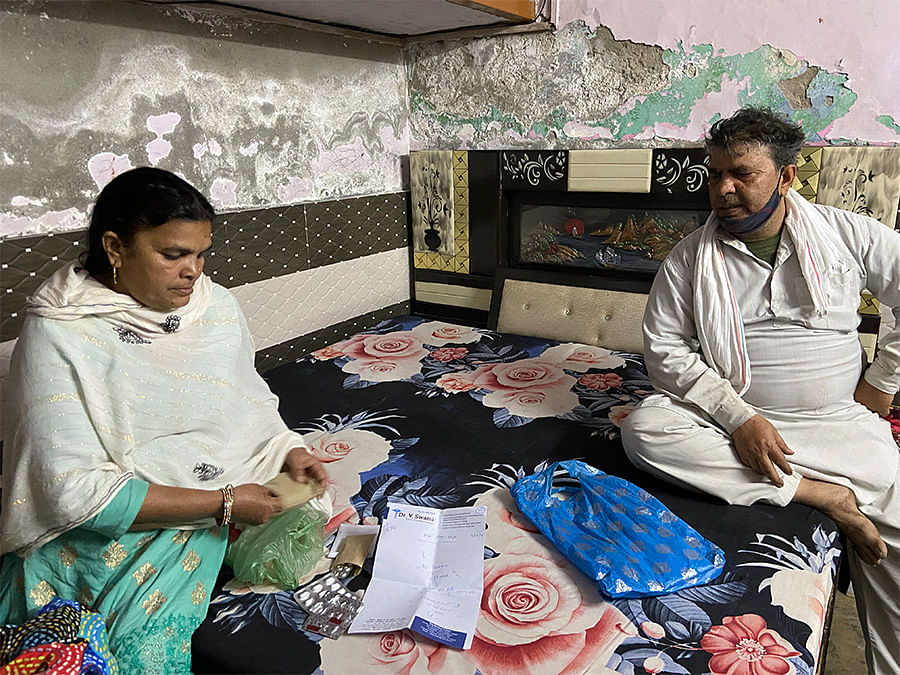 A significant part of Parveen's family income is spent on Babu Khan's medicines.