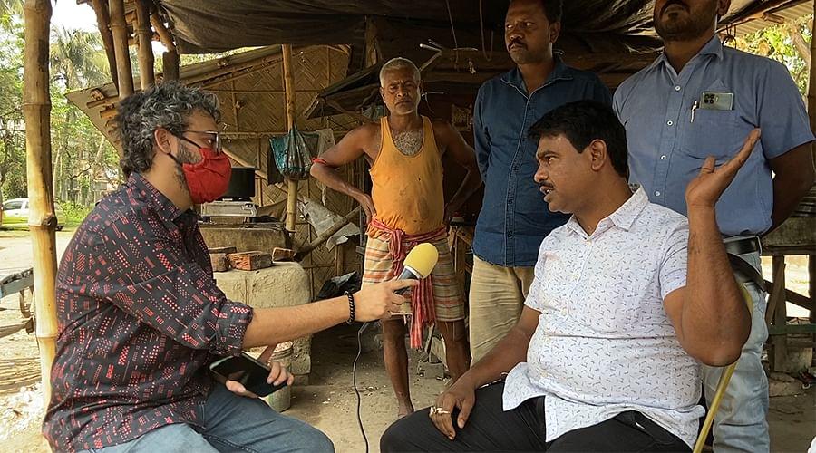 भाजपा कार्यकर्ता अंजन खाड़ा