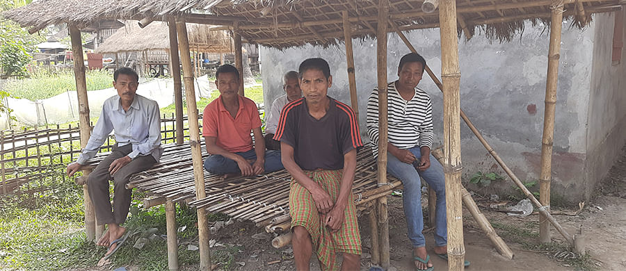 Dilip Pegu (centre) and Mahesh Pegu (right) from Nalamukh.