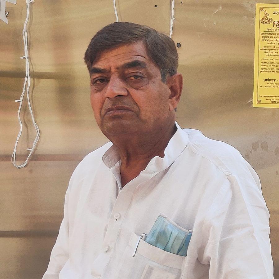 The priest, Ashok Kumar Sharma.