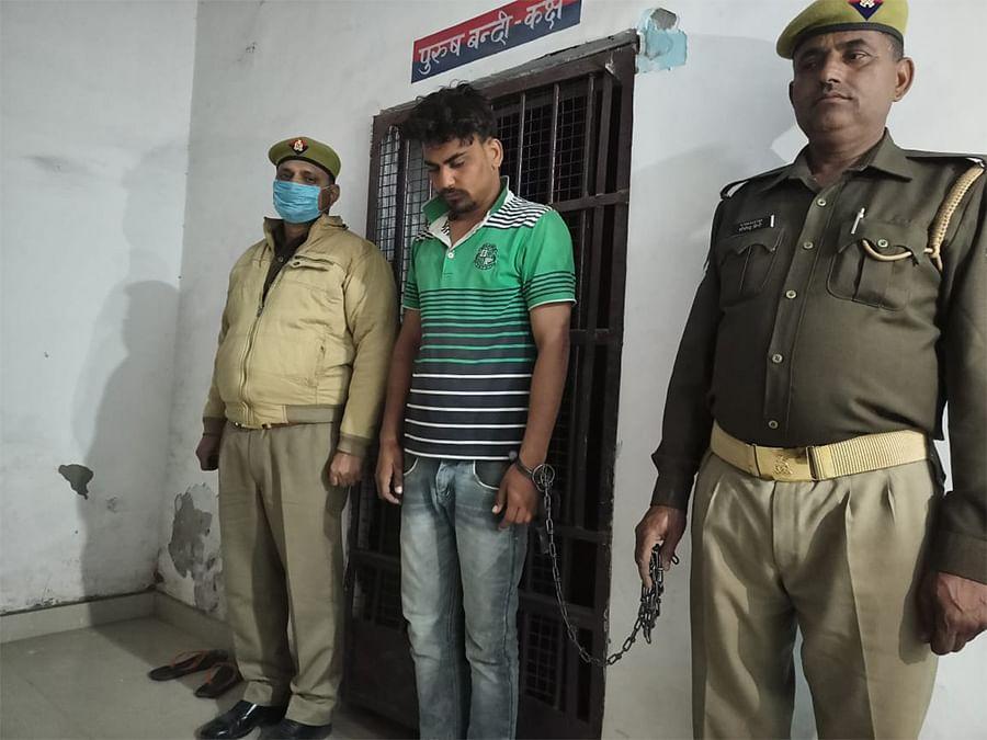 Lalit Sharma after his arrest.
