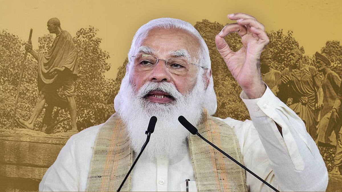 गांधी की दांडी यात्रा का लाइव कवरेज नहीं हुआ लेकिन मोदी की इस यात्रा को 24 घंटे चैनलों ने दिखाया