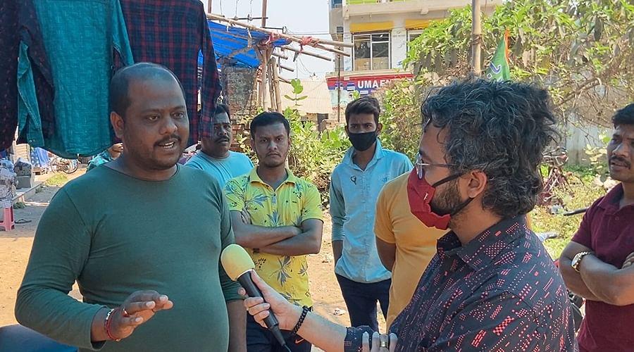 पंचशील में भाजपा कार्यकर्ता कौशिक कोले