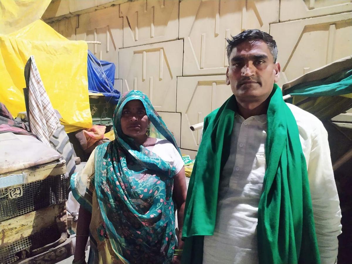 संभल जिले से गाजीपुर पहुंची अमरावती अपने पति सतवीर सिंह यादव के साथ