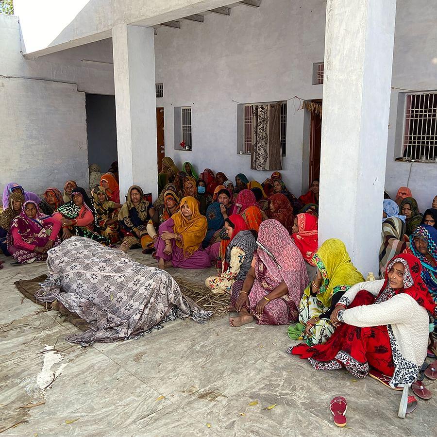 The scene at Ambreesh Sharma's house.