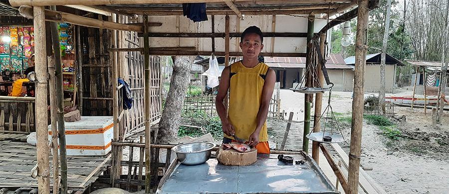 Dhiren Sonowal from Salmari village.
