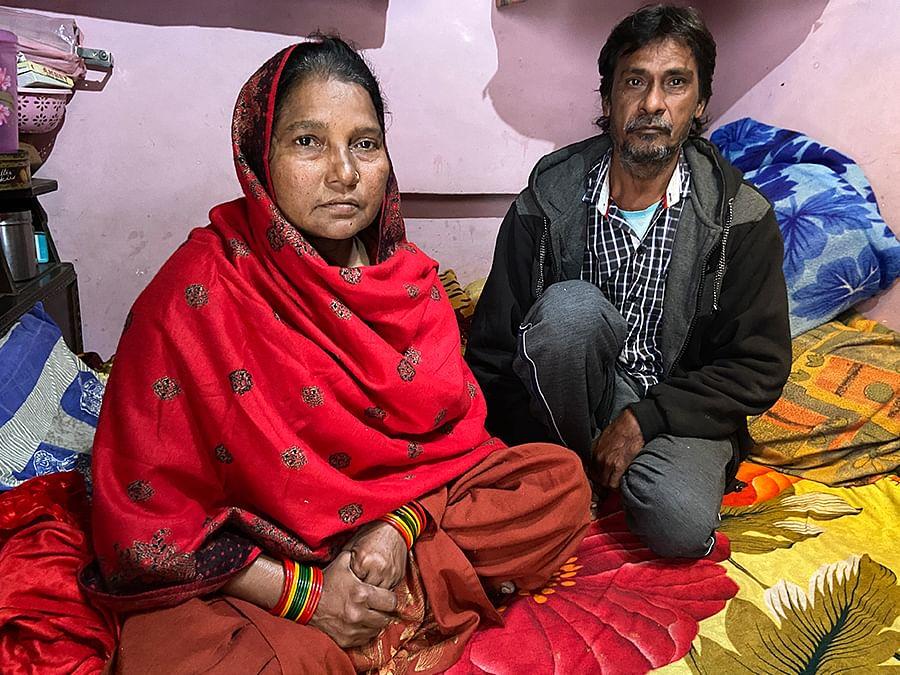 Golu Khan's parents in Kanpur.