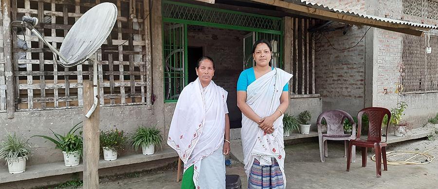 Kalpana Bora (left) and her daughter-in-law Prabali.