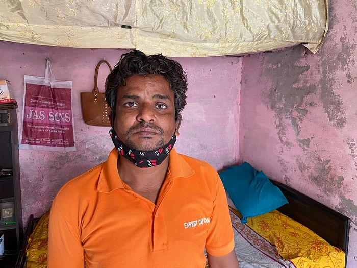 Sajid Khan is a daily wager who lives in Kardampuri in Northeast Delhi.
