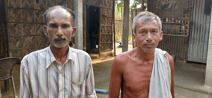 Niresh Barman, left, and Probesh Barman say they weren't allowed to vote.