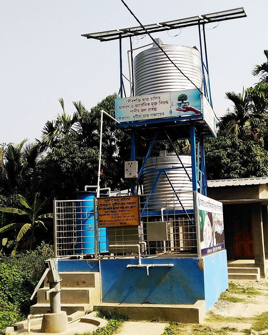 One of the new water pumps installed by the Bengal government.