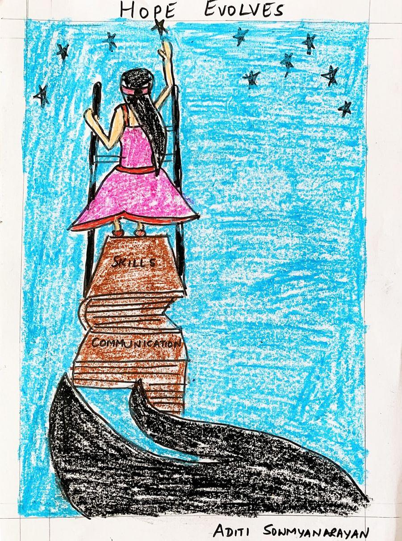 Art helped Aditi Somyanaryan adapt to the lockdown.