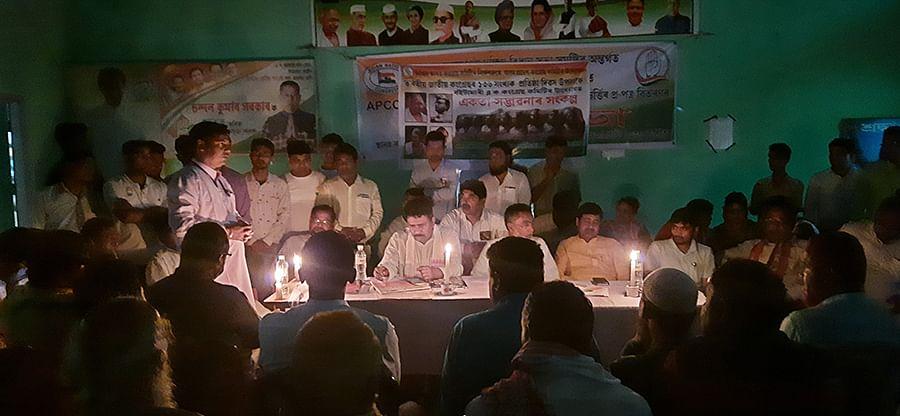 The candlelit meeting at Chalantapara.
