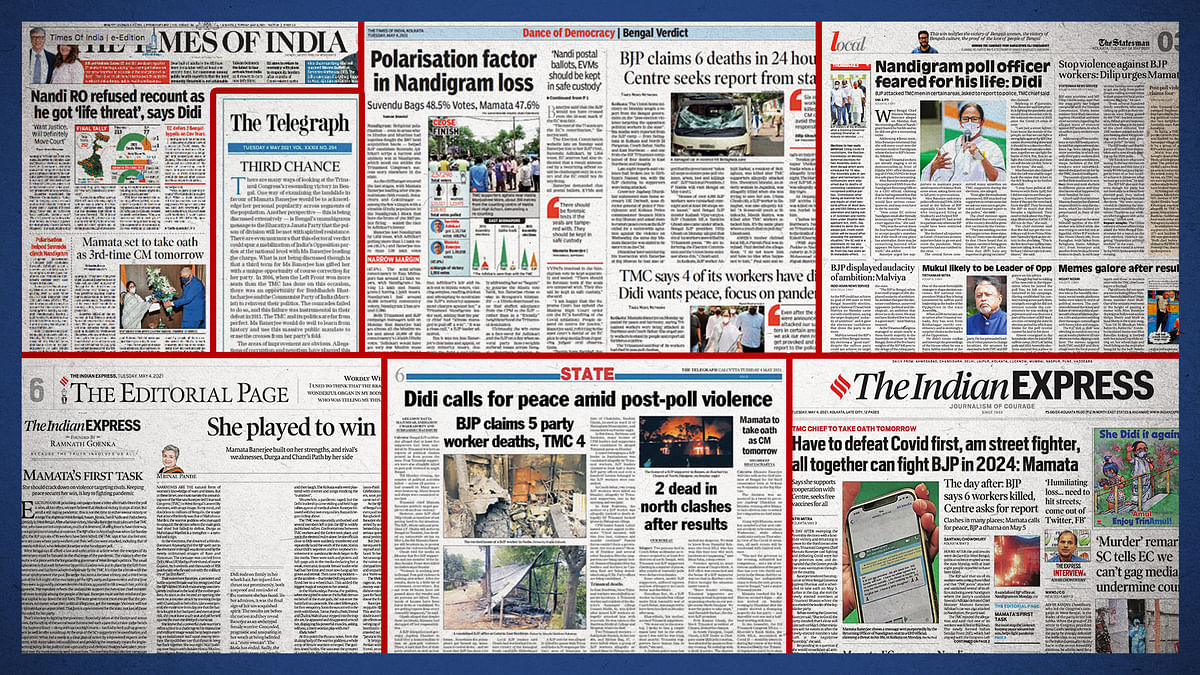 TMC vs BJP: Did the Bengal violence find space in Kolkata's English newspapers?