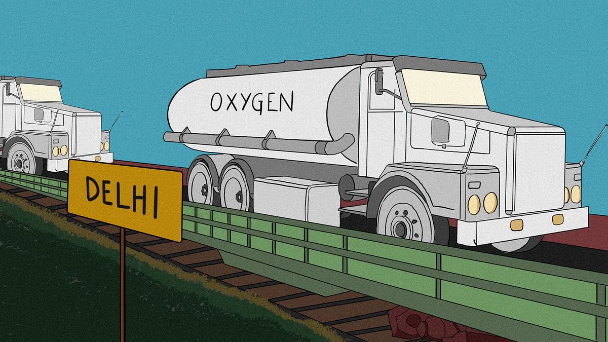 How much oxygen is Delhi getting by Oxygen Express?