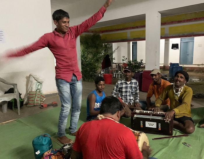 Santosh Ahirwar gets people dancing.