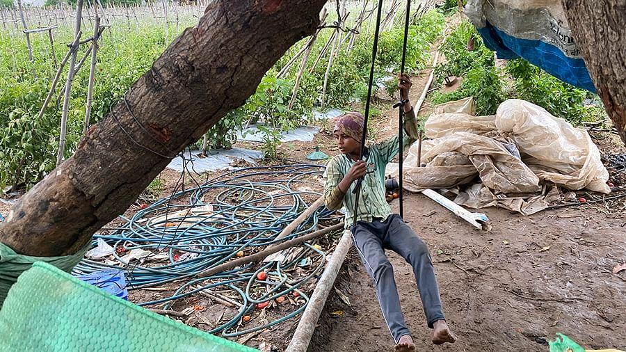 Govind's 12-year-old son Prakash.