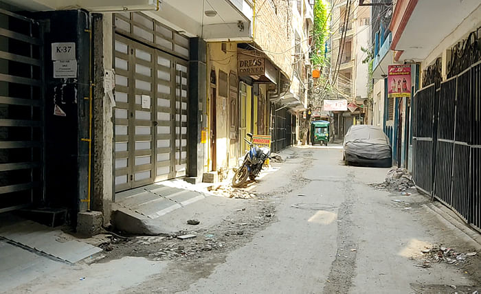 The lane in Batla House where Umar Gautam lives with his family.