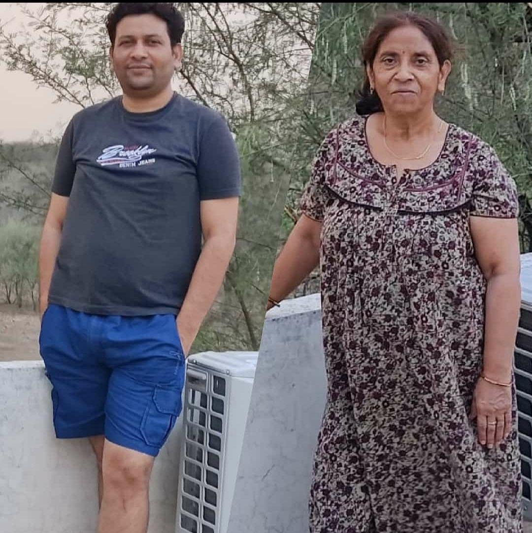 आशीष और उनकी मां
