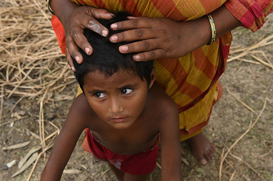Ritu, 7, was eating breakfast when her mother snatched her out of the path of a five-foot wave and placed her on a tree. Ritu could not eat a proper meal for 72 hours after. Her mother is sad that she hadn't been able to let her daughter finish her meal that morning.