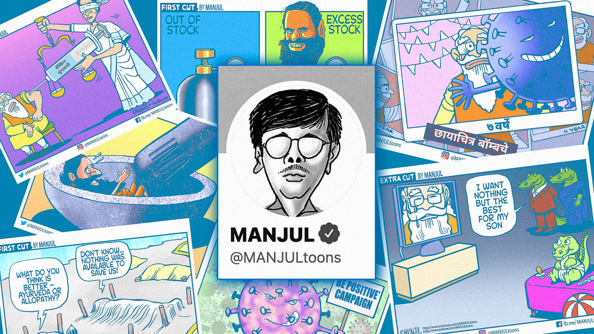 'I'll keep drawing cartoons': How Manjul plans to challenge government action on his Twitter account