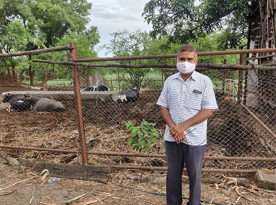 Bhau Patel Navle said he cannot rely on dairy farming for an income anymore.