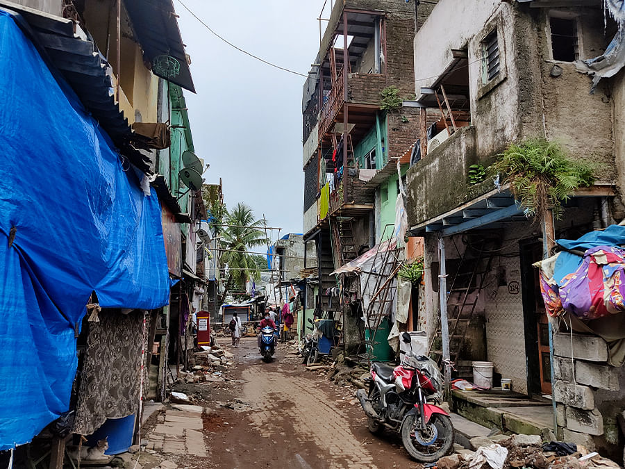 Illegal buildings in slums aren't listed by BMC and MHADA.