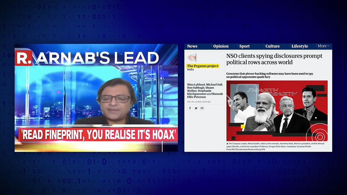 Project Pegasus in media: 'Unacceptable', 'attack on democracy'...and a 'hoax', according to Arnab