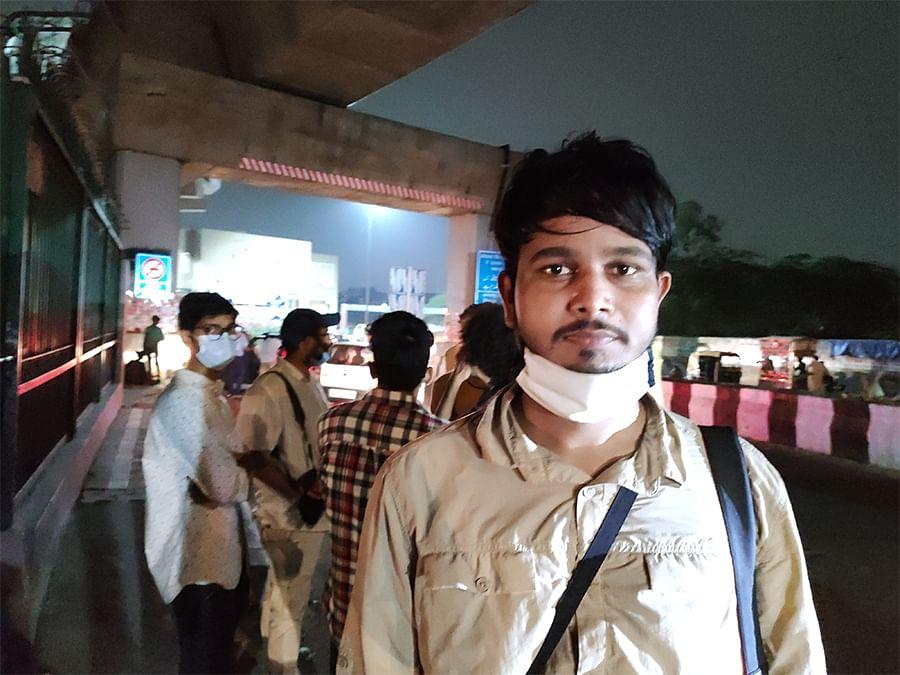 Photojournalist Mohammad Meherbaan outside Jamia Millia Islamia on Sunday.