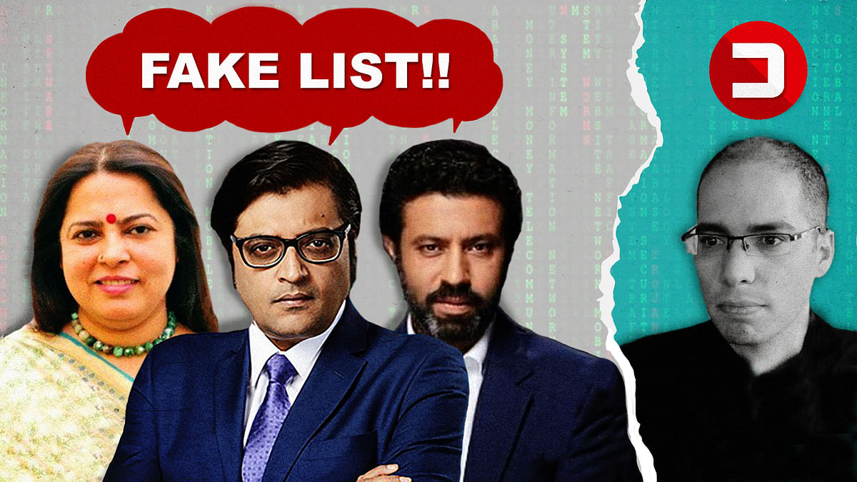 No one is saying the Pegasus list is fake. Why are BJP leaders and their media allies insisting it is?