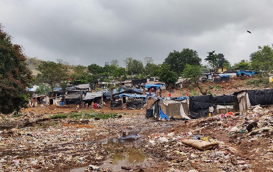 Nearly half of Mumbai's population lives in slums.