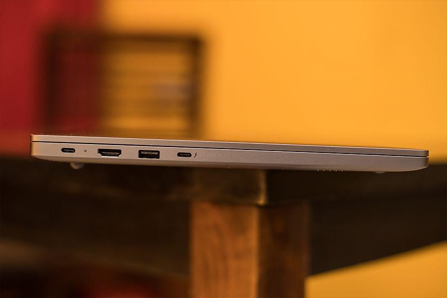 USB-C, HDMI, USB-A and Thunderbolt 4.