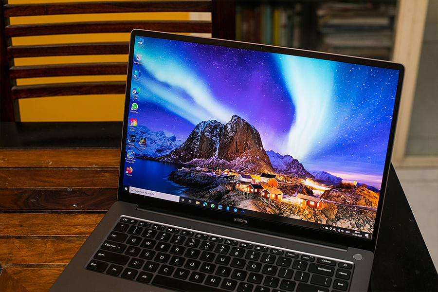 The laptop has a 16:10 high resolution display.