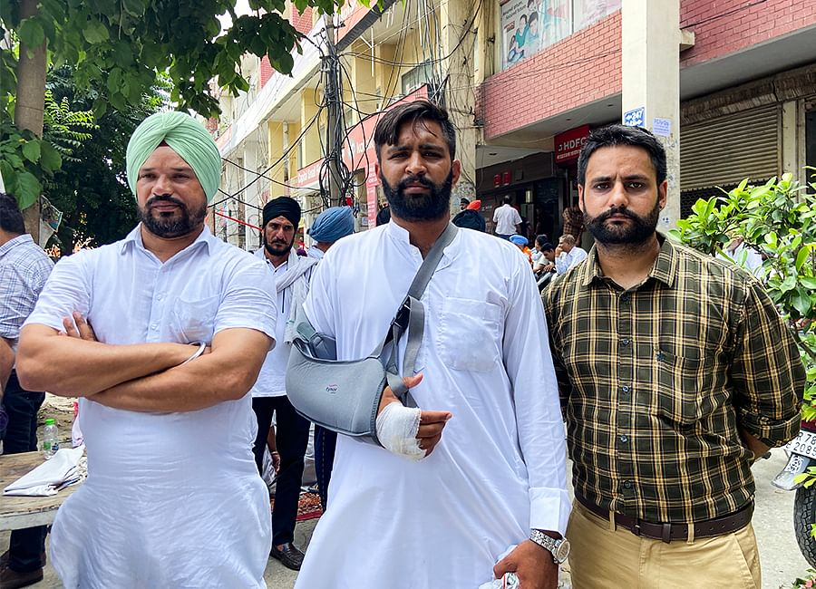 Gurjant Singh fractured his hand in the attack.