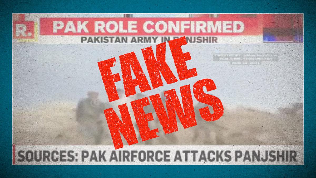Is it a video game? Is it an old report? No, it's Indian TV news trying to cover Panjshir