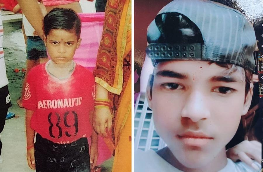 Krishna, left, 6, and Mohit, 16, died in Sudama Nagar.